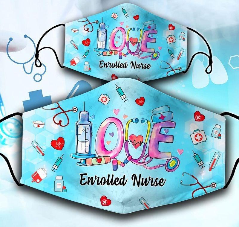 Love Enrolled Nurse Face Mask