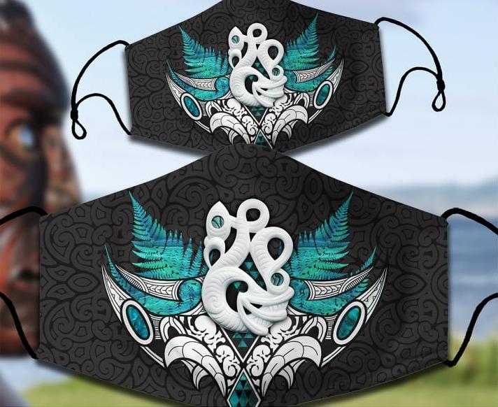 Manaia Maori face mask