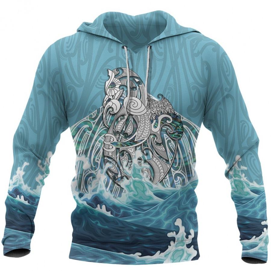 Maori Mania The Blue Sea 3D Hoodie
