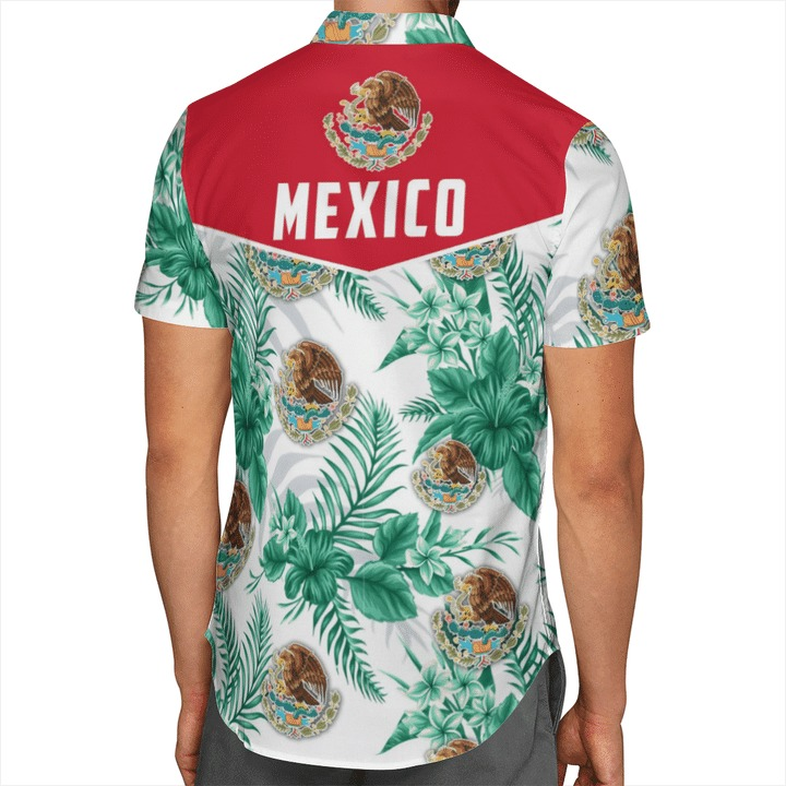 Mexican Pride Mexico Floral Hawaiian Shirt