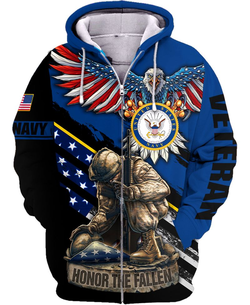 Navy veteran honor the fallen 3D all over print unisex shirt