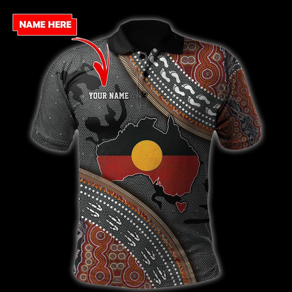 Custom name Aboriginal dots 3d hoodie and shirt