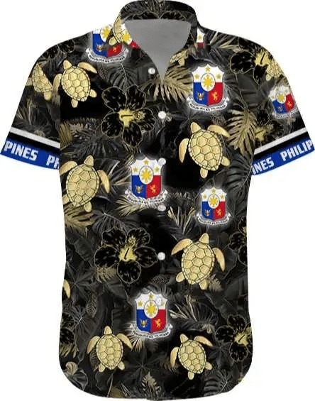Philippines Floral Short Sleeve Hawaiian Shirt