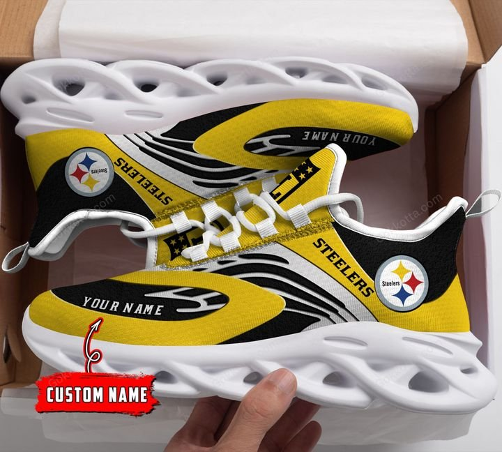 NFL Pittsburgh Steelers Personalized Max Soul Shoes