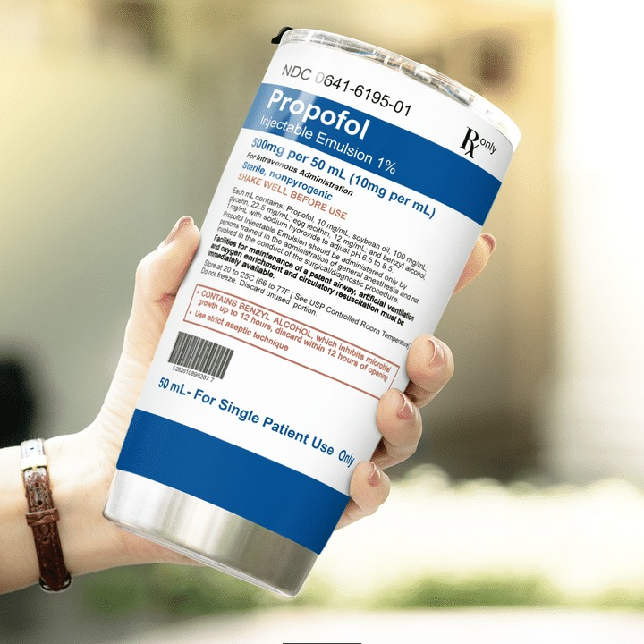 Propofol Gift Medicine For Nurse Doctor EMS Tumbler