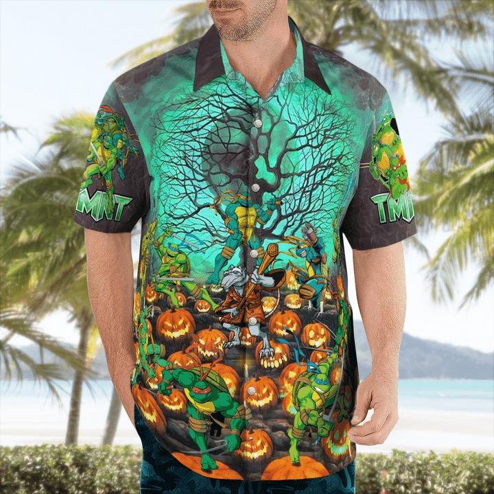 Teenage Mutant Ninja Turtles Halloween Hawaiian Shirt 1