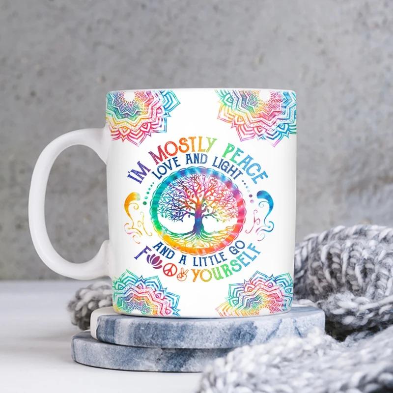Tie Dye Gnome Hippie Soul Mug