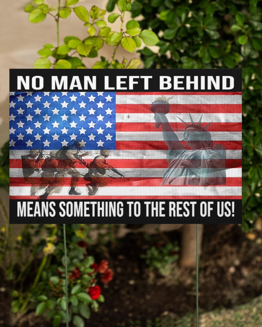 US Military No Man Left Behind Yard Sign
