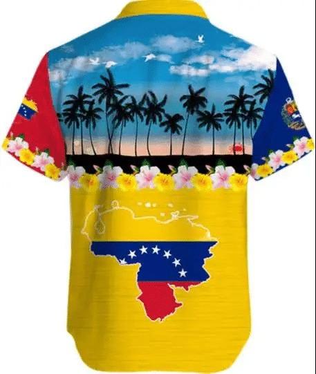 Venezuela Tropical Short Sleeve Hawaiian Shirt