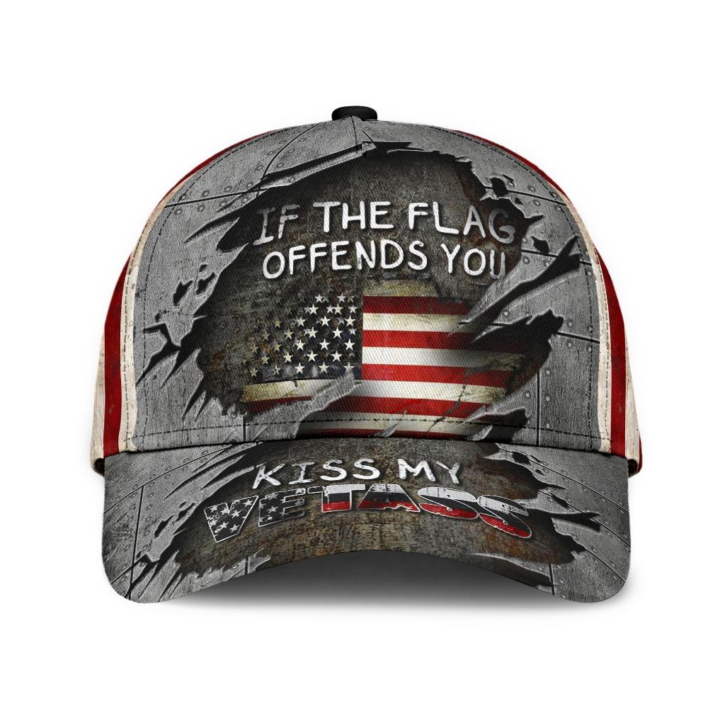 Veteran If The Flag Offends You Kiss My Vetass Baseball Cap